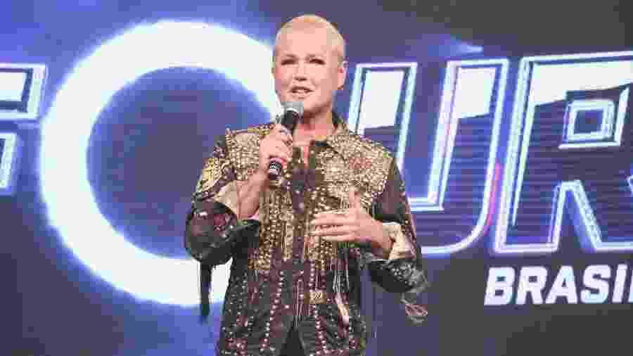 Xuxa durante evento da Record em São Paulo - Lucas Ramos / AgNews