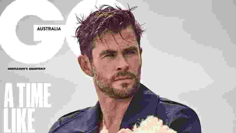 Chris Hemsworth na capa da revista GQ Austrália - Divulgação