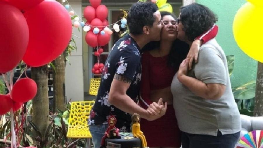 Gays, Silvana e Sergio decidiram ter juntos uma filha, Mônica - Arquivo pessoal