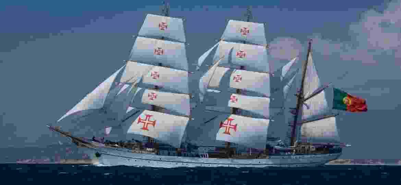 NRP Sagres, que navegaria o mundo, teve a viagem frustrada pelo coronavírus - Divulgação