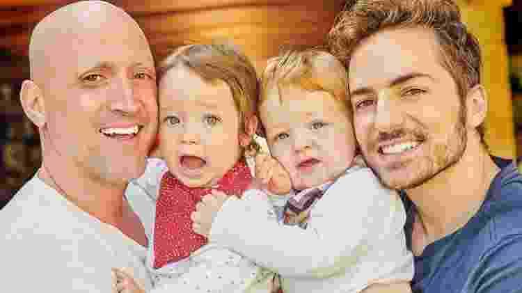 Paulo Gustavo e o marido Thales Bretas com os filhos Gael e Romeu - Reprodução/Instagram - Reprodução/Instagram