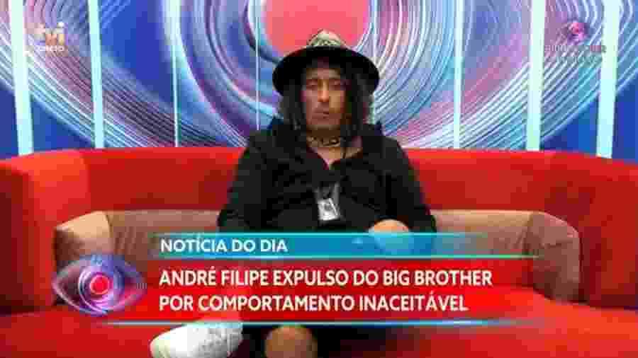 André Filipe deixou a casa após vandalizar instalações e atirar mobiliário à piscina - TVI/Reprodução