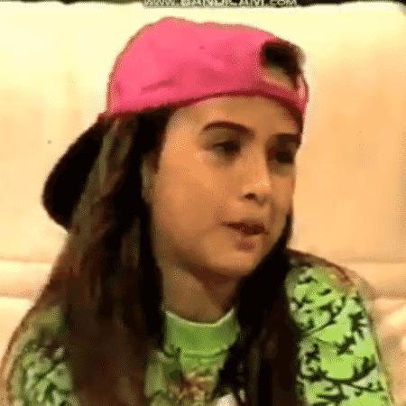 """Tatá Werneck durante participação no Xuxa Park em 1994; Ela rebateu seguidora que a chamou de """"criança feia"""" - Reprodução/Twitter"""