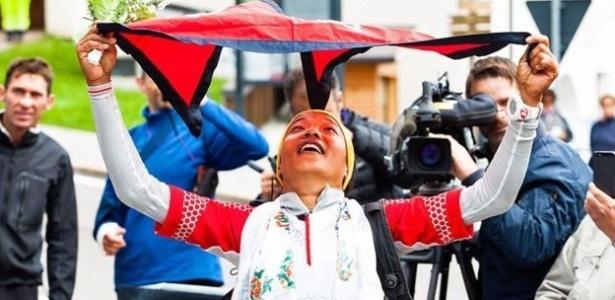 Rai vencendo a primeira corrida, nas Dolomitas italianas, em tempo recorde - Pegaso Media
