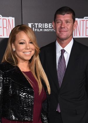 Mariah Carey com o noivo James Packer - Getty Images