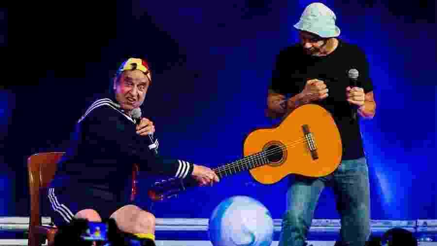 """Out.2014 - Carlos Villagrán como o personagem Quico, do """"Chaves"""", durante show em São Paulo - Manuela Scarpa/Photo Rio News"""