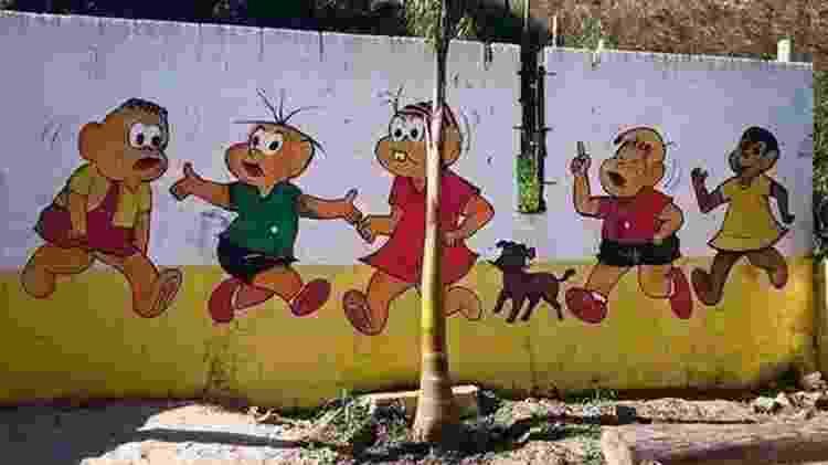 Muro turma da Mônica - Reprodução - Reprodução