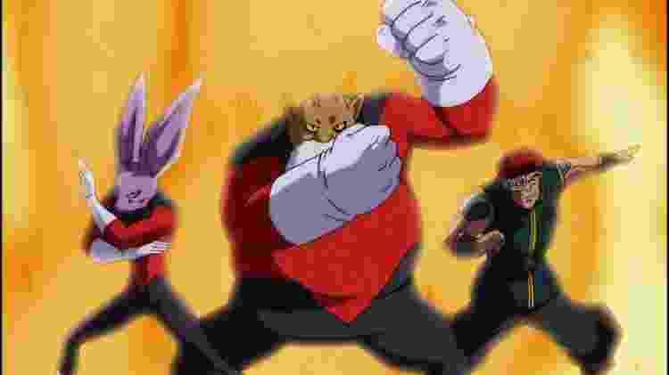 Dyspo, Toppo e Kahseral são os membros conhecidos até o momento da Tropa do Orgulho, uma formação com os lutadores mais fortes do Universo 11 - Reprodução