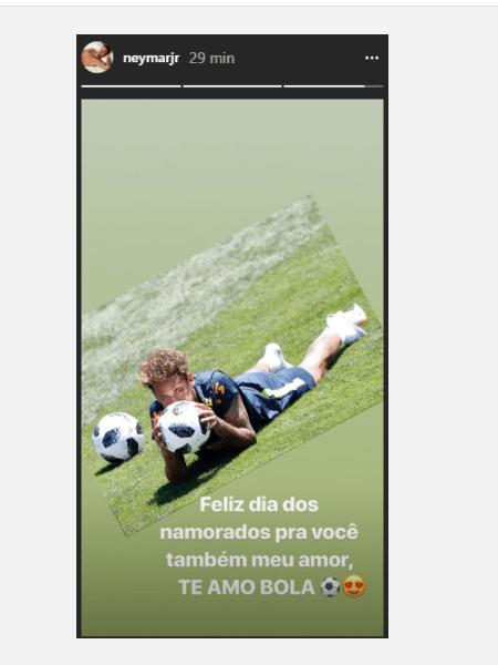 Neymar se declara para a bola - Reprodução/Instagram