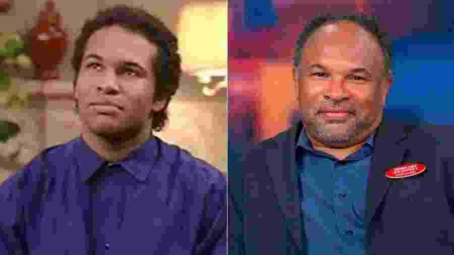 """Geoffrey Owens na época do """"The Cosby Show"""" e nos dias de hoje - Montagem/UOL"""
