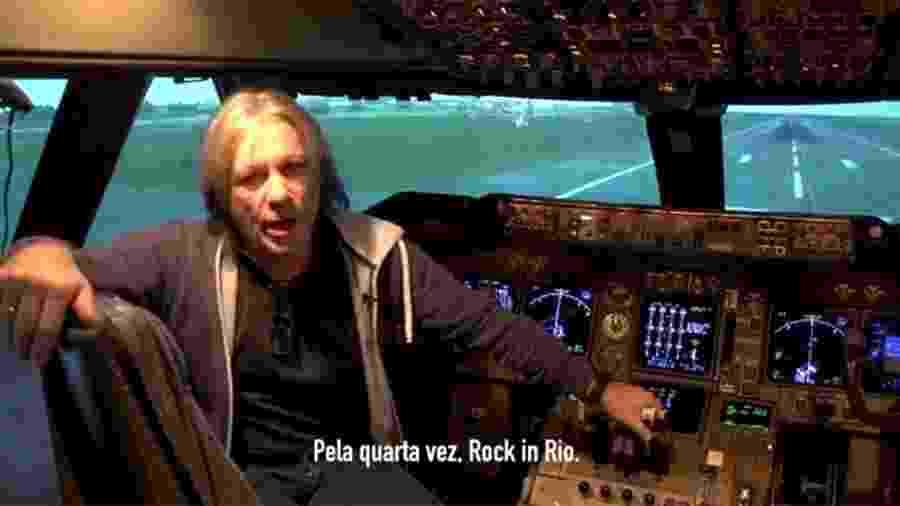 Bruce Dickinson manda recado sobre o Rock in Rio para os fãs brasileiros - Reprodução/Facebook