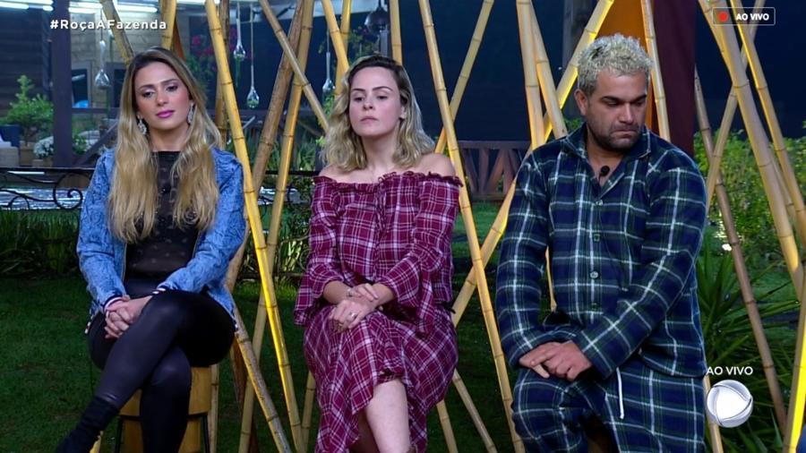 """Nadja Pessoa, Ana Paula Renault e Evandro Santos formam terceira roça de """"A Fazenda 10"""" - Reprodução/RecordTV"""