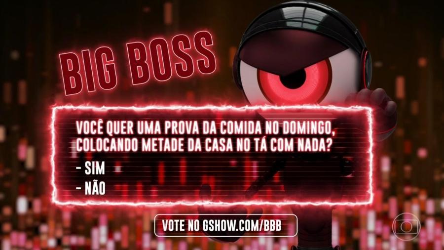 """As opções da segunda pergunta do Big Boss do """"BBB19"""" - Reprodução/TvGlobo"""