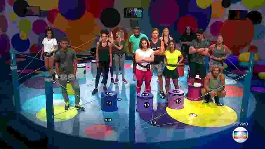 Brothers participam da segunda prova do lider do programa - Reprodução/TvGlobo