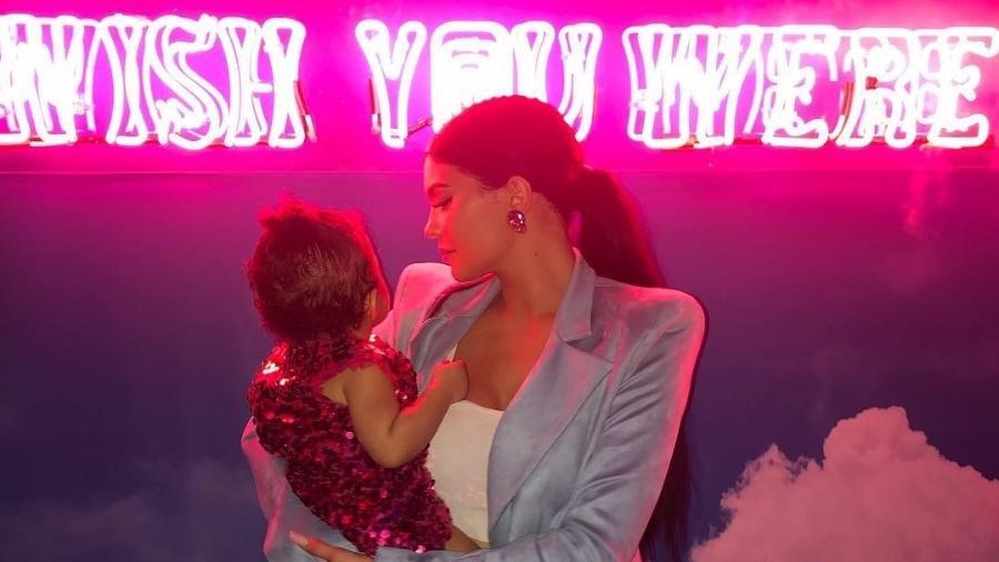 Kylie comemorou o aniversário de um ano de Stormi neste sábado (9) - Reproduçõ/Instagram/@kyliejenner