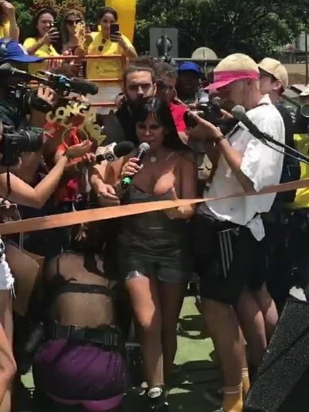Gretchen empolgou o público em Belo Horizonte - Reprodução