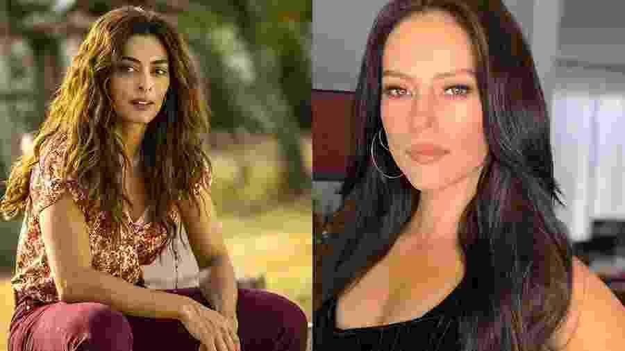 As atrizes Juliana Paes, 40, e Paolla Oliveira, 36, caracterizadas como Maria da Paz e Virgínia, personagens da nova trama das 21h - Globo/ João Miguel Junior e Instagram