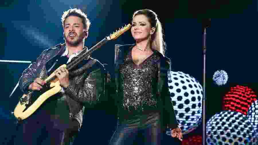 Sandy e Junior no primeiro show da turnê Nossa História, no Recife - Manuela Scarpa/Brazil News