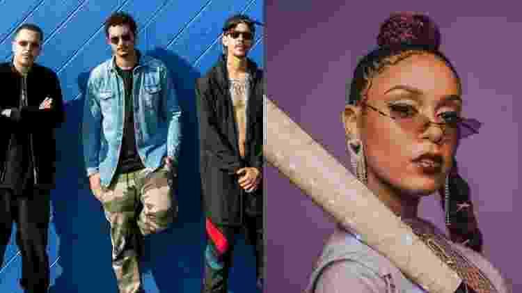 O grupo Rap 3030 e MC Rebecca foram convidados a gravar com Anitta - Divulgação/Montagem UOL