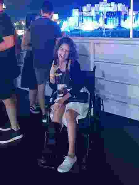 Thalita Rebouças vai a Rock in Rio em cadeira de rodas - Lucas Pasin/Coluna Leo Dias