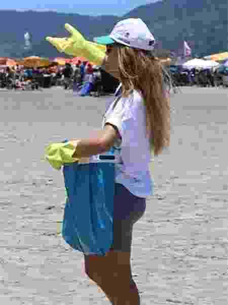 Em eventos realizados no litoral de São Paulo, o suporte é usado para facilitar a coleta de lixo - Arquivo pessoal
