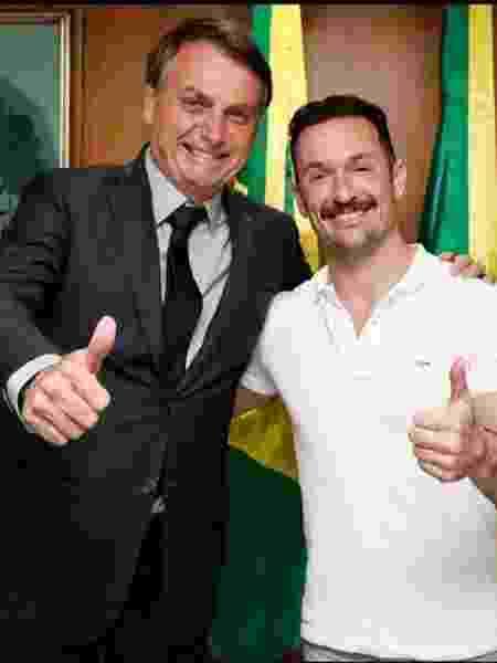 Jair Bolsonaro e Diego Hypolito - Reprodução/Instagram