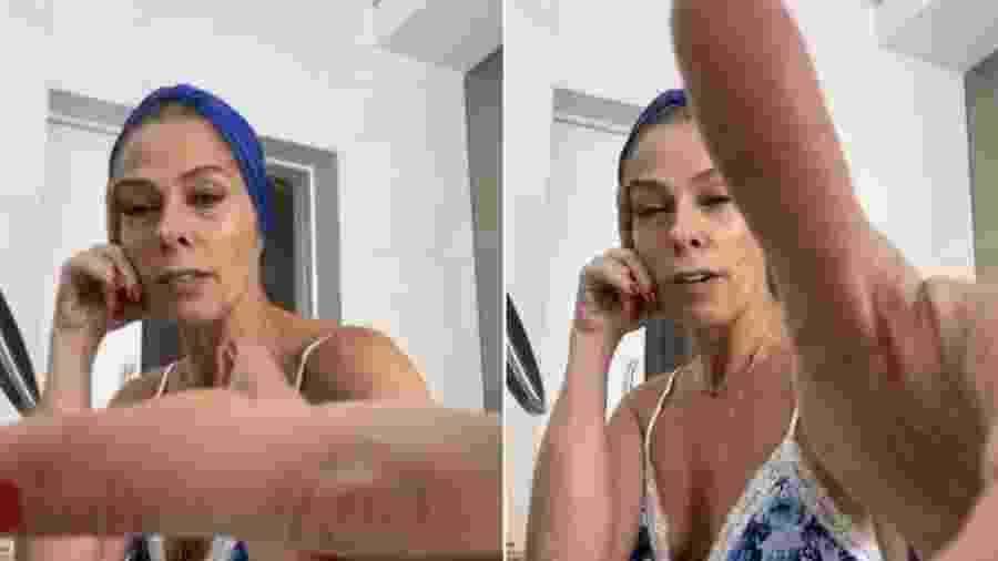 Adriane Galisteu mostra bolhas no dedo por fazer faxina em casa - Reprodução/Instagram