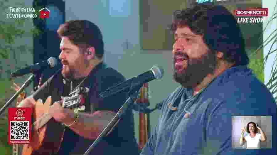 Live de César Menotti e Fabiano - Reprodução/Youtube