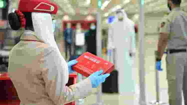 Emirates fornece kits de higiene para passageiros - Divulgação - Divulgação