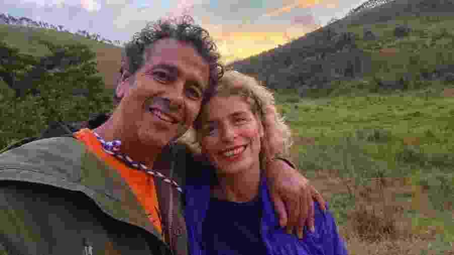Marcos Palmeira e a mulher, Gabriela Gastal - Reprodução/Instagram