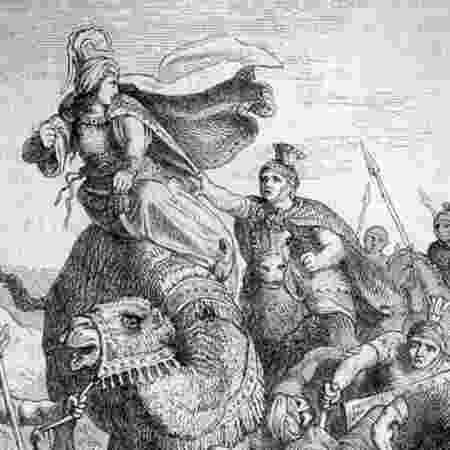 O imperador Aureliano decidiu acabar com a ambição imperialista de Zenóbia - GETTY IMAGES - GETTY IMAGES