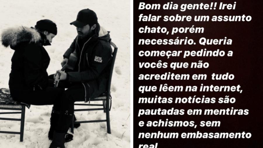 Após término, Fernando defende Maiara em postagem nos stories - Reprodução/Instagram/@fernando