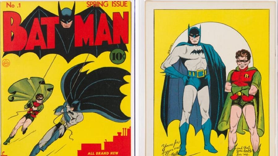 História em quadrinhos do Batman número 1 - Reprodução/Heritage Auctions
