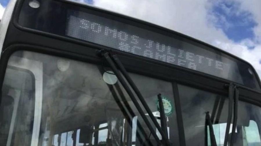 Juliette ganha apoio dos ônibus de João Pessoa, cidade onde mora - Reprodução/Twitter