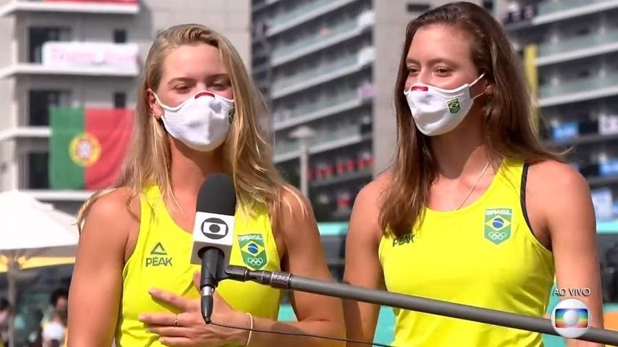 Jornal Nacional: Luisa e Laura falam da medalha de bronze no tênis - Reprodução/TV Globo