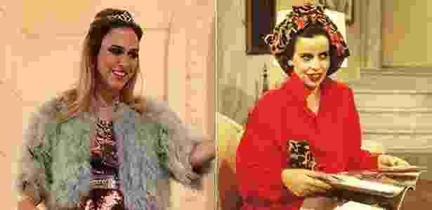 A Fedora de hoje, Tatá Werneck (à esq), e a de1987, vivida por Cristina Pereira - Divulgação