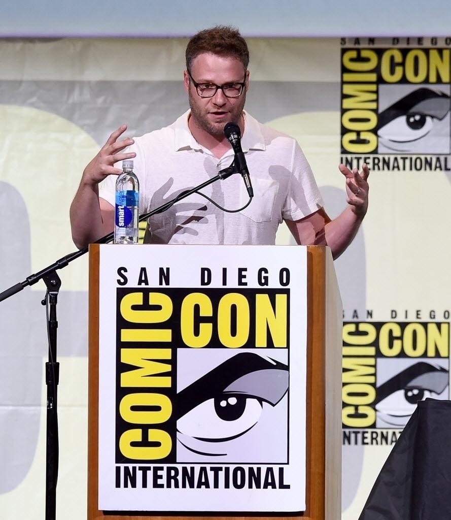 22.jul.2016 - O ator Seth Rogen participa do painel da série
