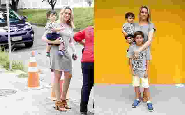 23.nov.2016- Fernanda Gentil festeja aniversário de 30 anos em casa de festas infantil na Barra da Tijuca, zona oeste do Rio. A apresentadora chegou para a comemoração acompanhada do filho Lucas e do afilhado Gabriel - Ag.News