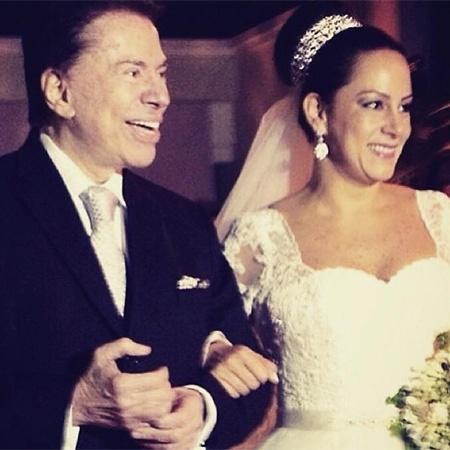 Silvia Abravanel publica foto no dia de seu casamento para homenagear o pai, Silvio Santos - Reprodução/Instagram/SilviaAbravanel