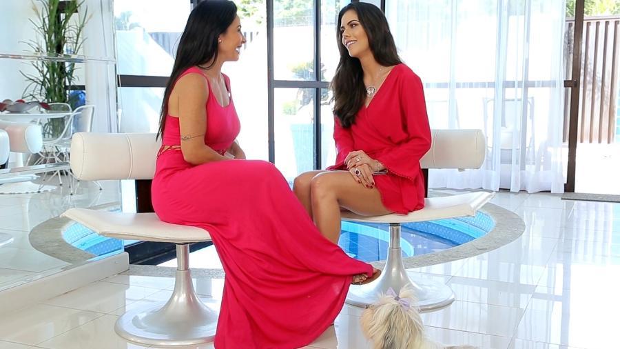Scheila Carvalho abre sua casa e recebe a apresentadora Daniela Albuquerque - Divulgação/RedeTV!