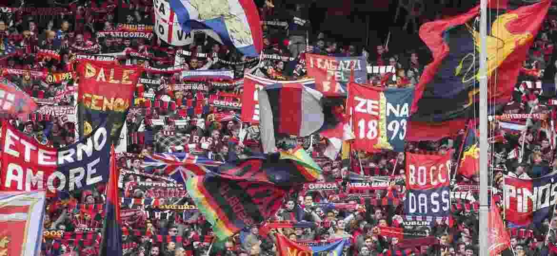 Torcida do Genoa FC, na Itália: estádio do time agora terá creche para crianças de três a seis anos - Reprodução/facebook.com/genoaCFCofficial