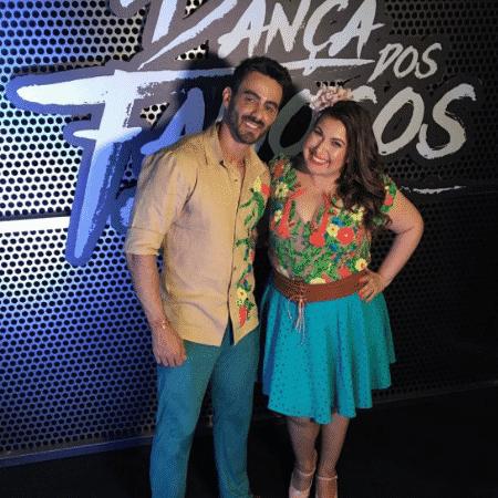 Mariana Xavier e seu professor, Léo Santos - Reprodução/Instagram/marianaxavieroficial