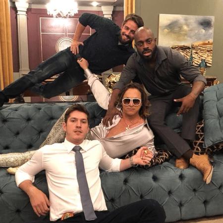 Fabio Lago com Rafael Cardoso, Thiago Thomé e Caio Paduan - Reprodução/Instagram/fabiolagooficial
