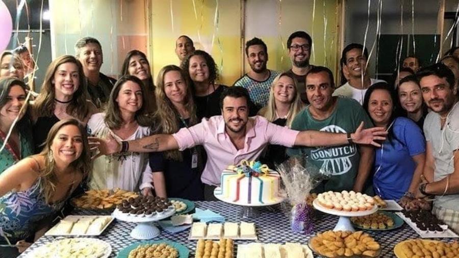 """Joaquim Lopez ganha festa de despedida do """"Vídeo Show"""" - Reprodução/Instagram"""