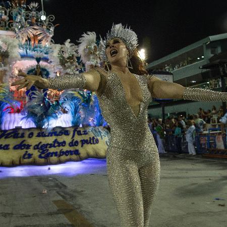 Claudia Raia desfila pela Beija-Flor no Carnaval 2018 - Júlio César Guimarães