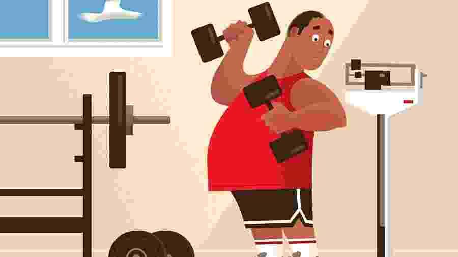 """O estilo de vida atual convenceu muitos, conscientemente ou não, de que é aceitável ser significativamente mais pesado do que pessoas com pesos """"normais"""" - Paul Rogers/The New York Time"""