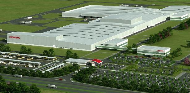 Projeto da fábrica da Honda em Itirapina (SP)