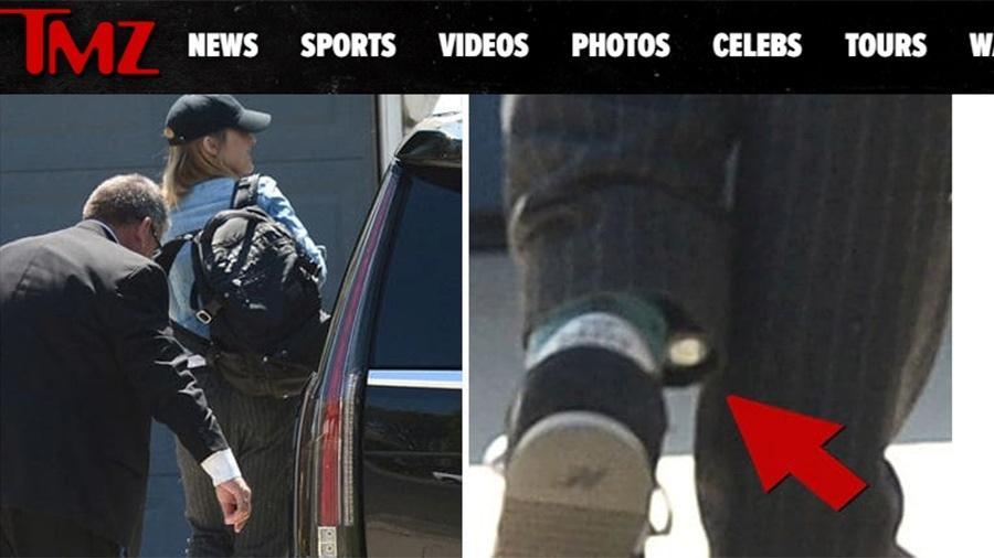 """A atriz Allison Mack, de """"Smalville"""", é flagrada com tornozeleira eletrônica - Reprodução/TMZ"""