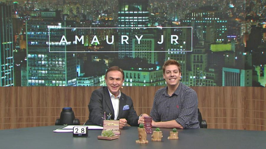 Amaury Jr. entrevista Fábio Porchat  em seu programa neste sábado - Band/Divulgação