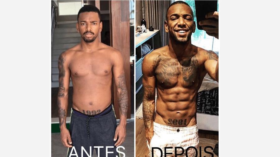 Nego do Borel antes e depois de mudança no corpo - Reprodução/Instagram